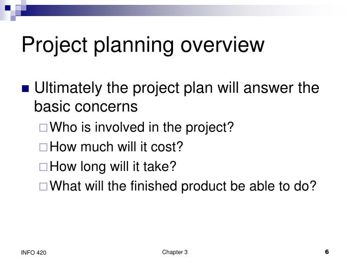 Project planning overview