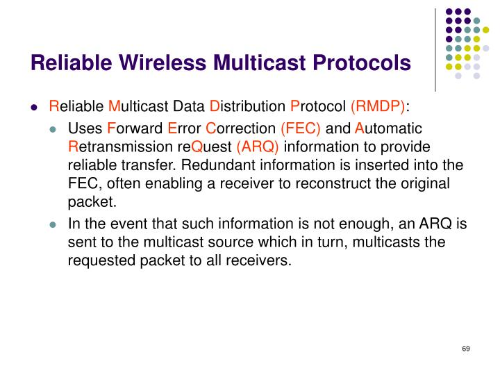 Reliable Wireless Multicast Protocols