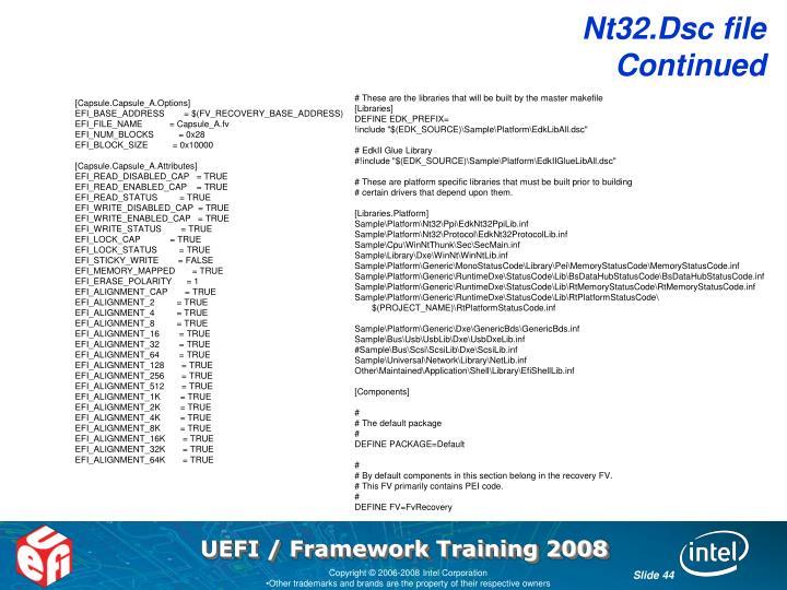 Nt32.Dsc file