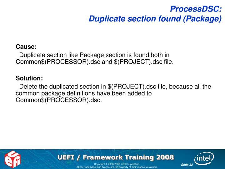 ProcessDSC: