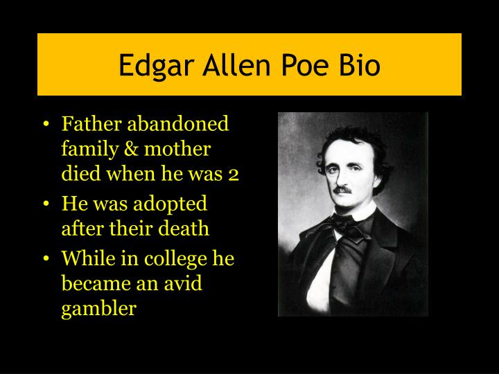 a literary analysis of the life of edgar allan poe Watch video and editor edgar allan poe some aspects of poe's life, like his literature how and when did edgar allan poe die edgar allen poe.