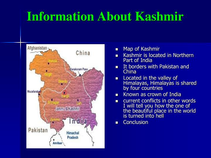Information about kashmir