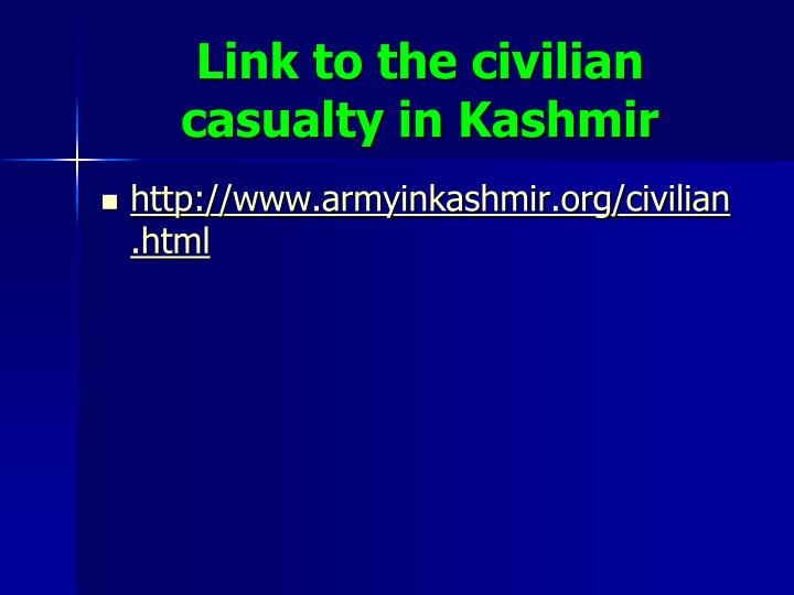 Link to the civilian casualty in Kashmir