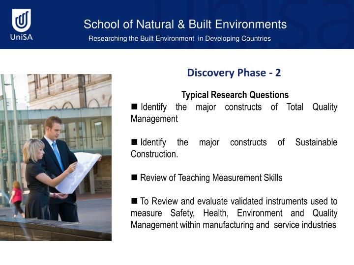 School of Natural & Built Environments