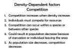 density dependent factors competition