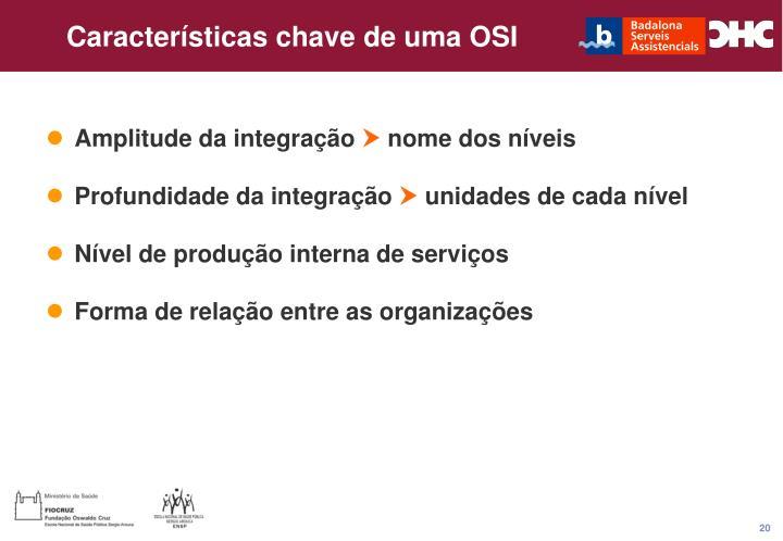 Características chave de uma OSI