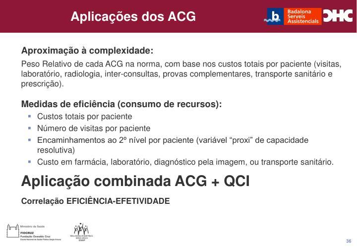 Aplicações dos ACG