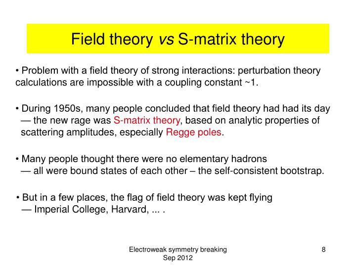 Field theory
