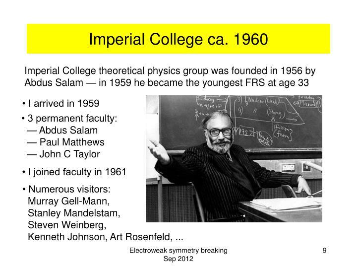 Imperial College ca. 1960