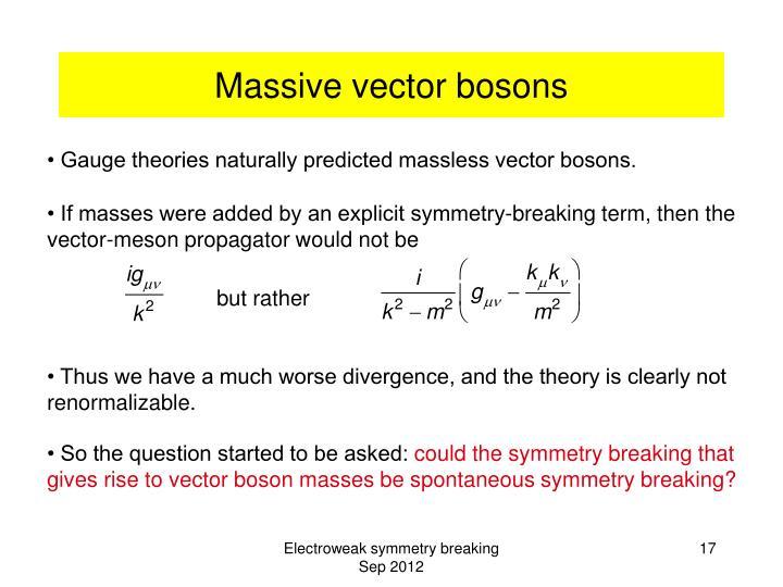 Massive vector bosons
