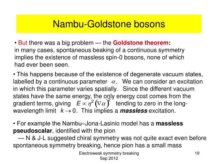 Nambu-Goldstone bosons