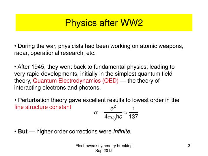Physics after ww2