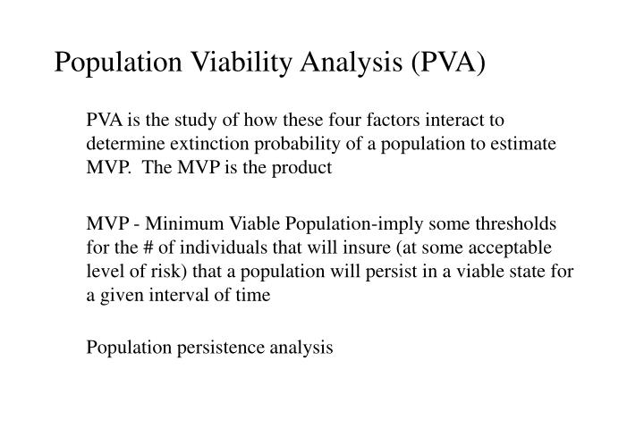 Population Viability Analysis (PVA)