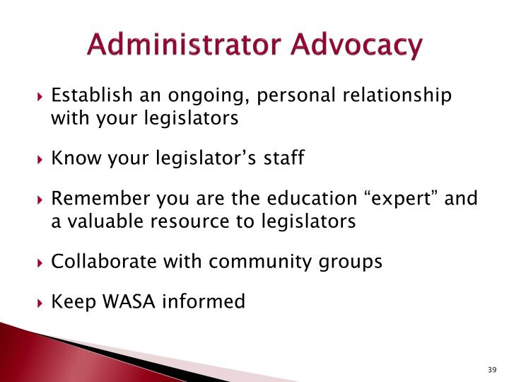 Administrator Advocacy