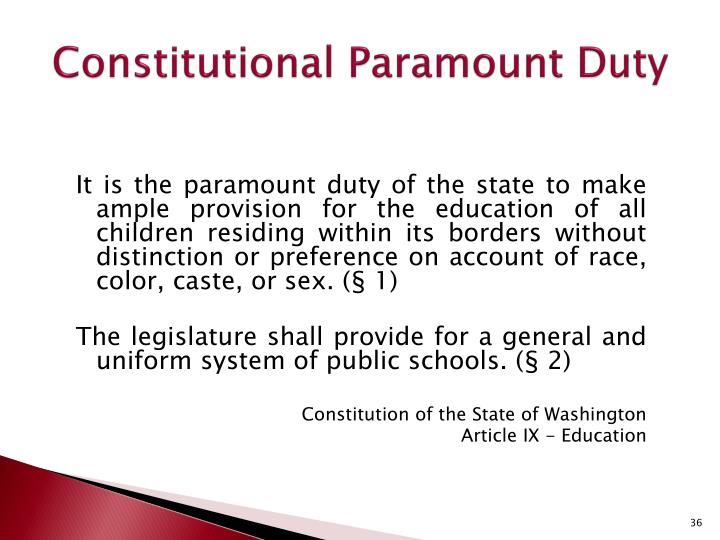 Constitutional Paramount Duty