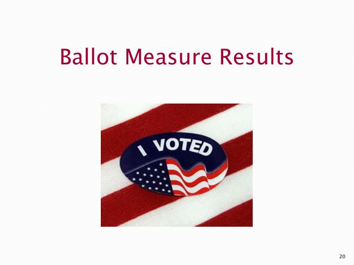 Ballot Measure Results