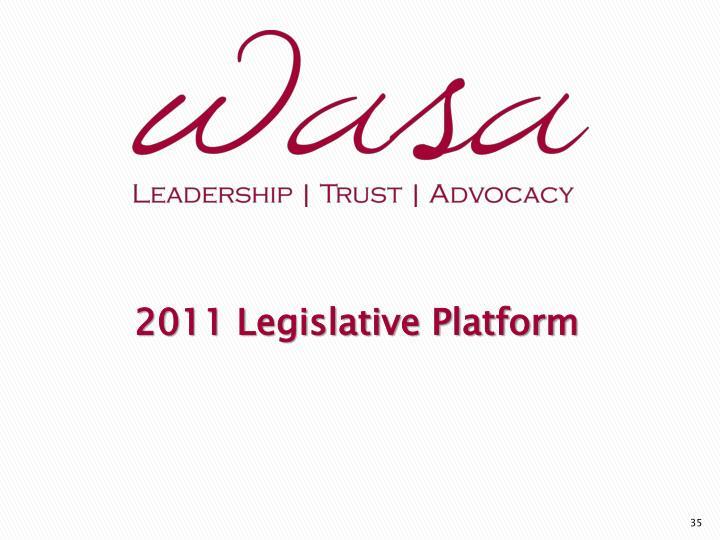 2011 Legislative Platform