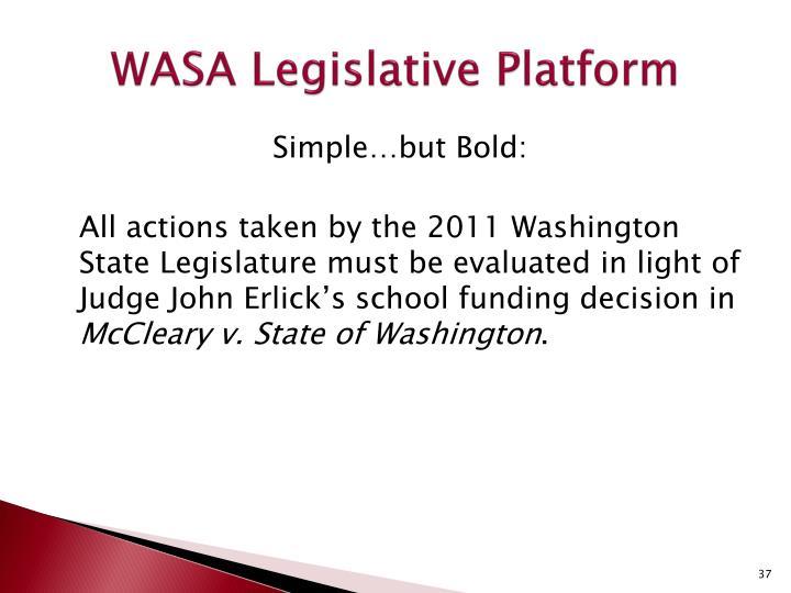 WASA Legislative Platform