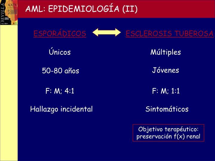 AML: EPIDEMIOLOGÍA (II)