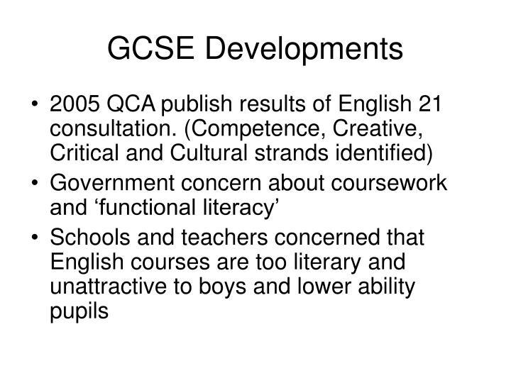 GCSE Developments