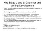 key stage 2 and 3 grammar and writing development