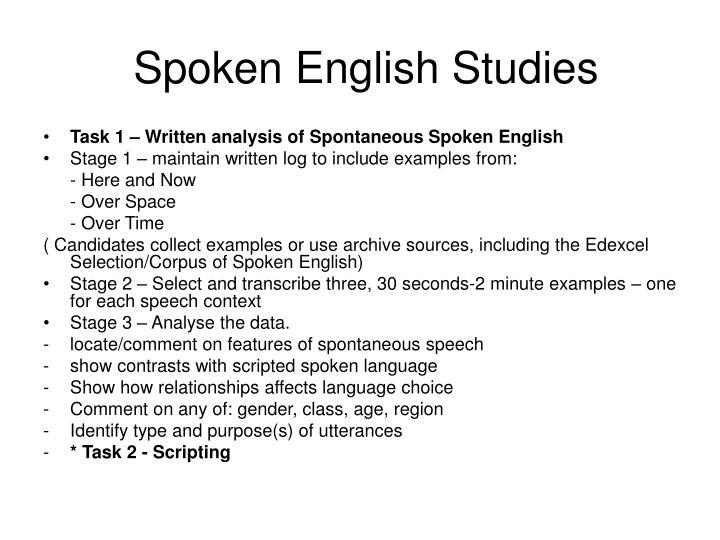 Spoken English Studies