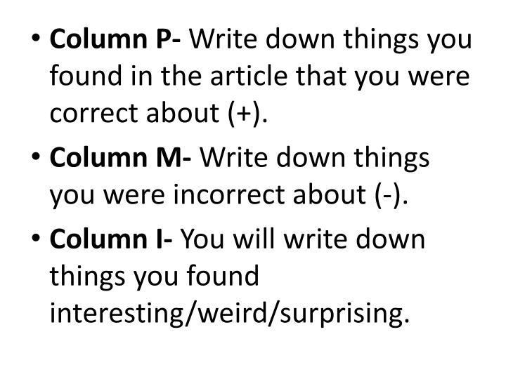 Column P-