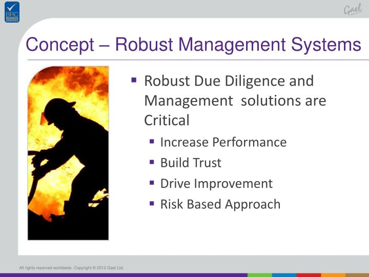 Concept – Robust Management Systems