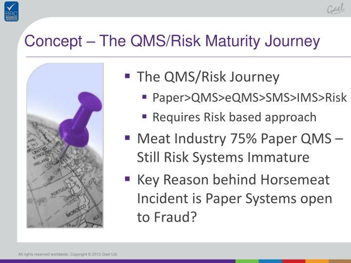 Concept – The QMS/Risk Maturity Journey