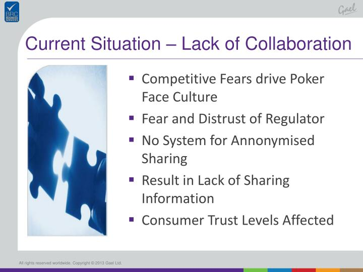 Current Situation – Lack of Collaboration