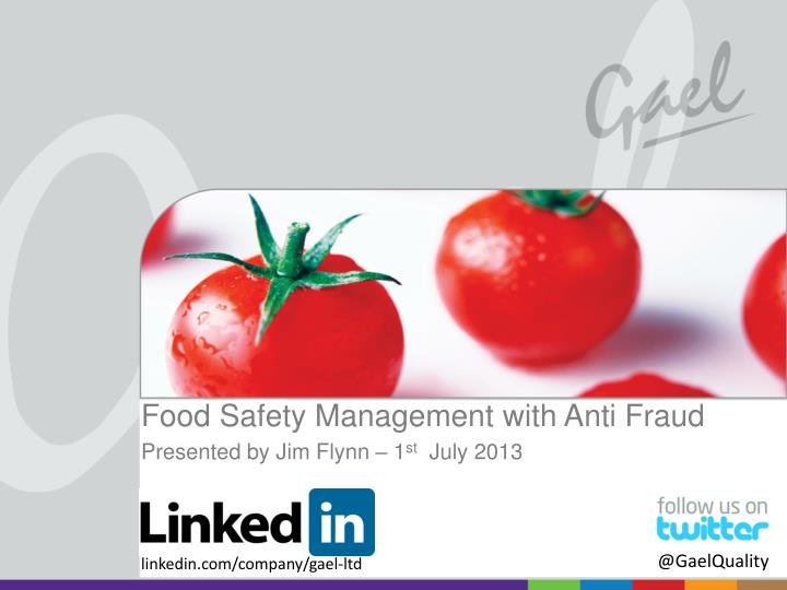 Food Safety Management with