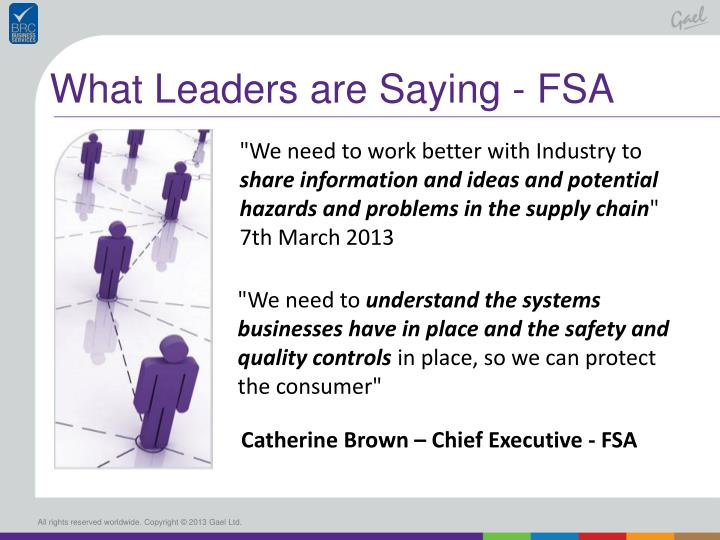 What Leaders are Saying - FSA