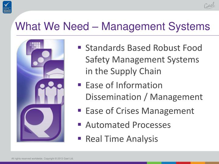 What We Need – Management Systems