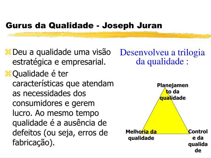 Gurus da Qualidade - Joseph Juran