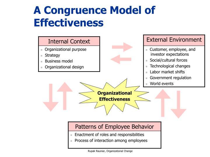 A Congruence Model of Effectiveness