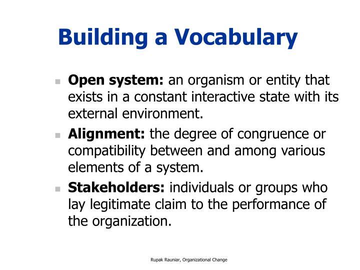Building a Vocabulary