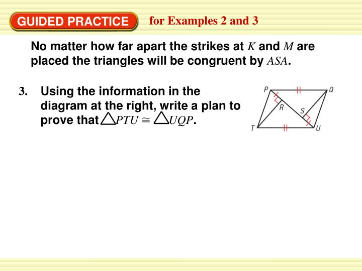 Using the information in the diagram at the right, write a plan to prove that