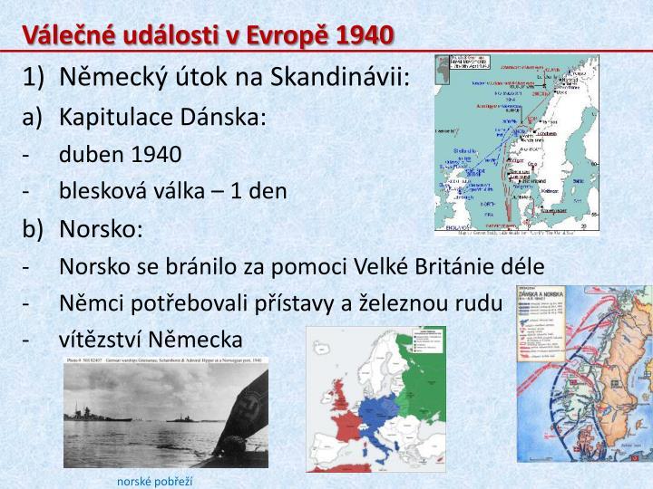 Válečné události v Evropě 1940