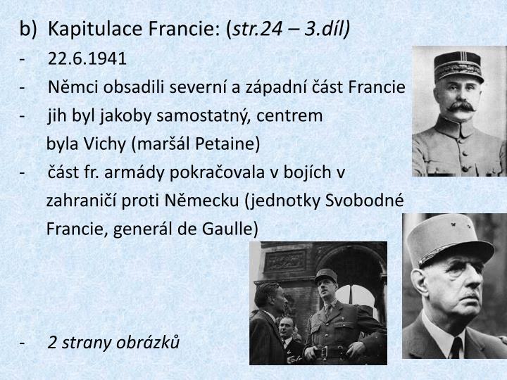 Kapitulace Francie: (