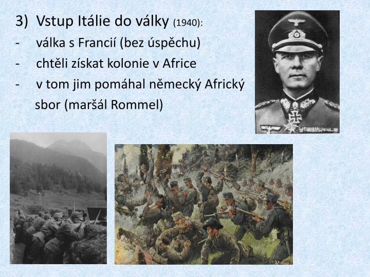 Vstup Itálie do války