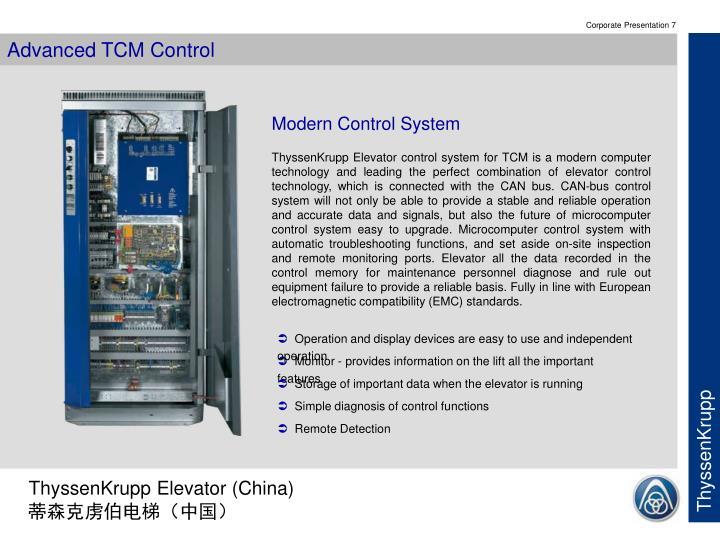 Advanced TCM Control