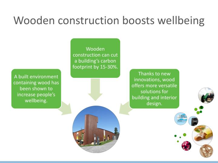 Wooden construction boosts wellbeing