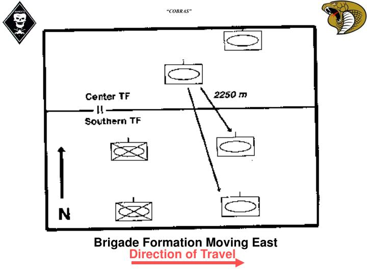 Brigade Formation Moving East