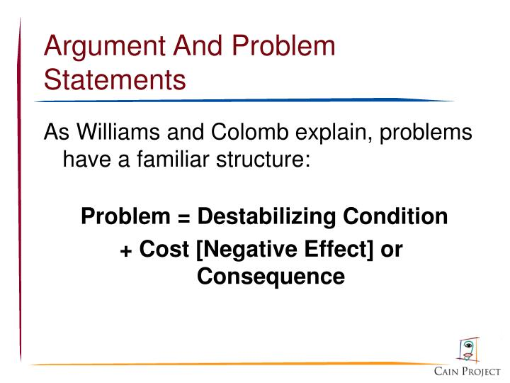 Argument And Problem Statements