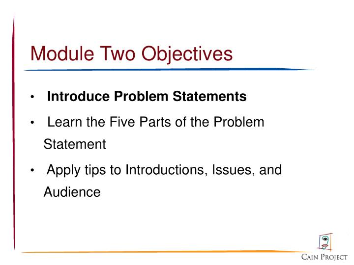Module Two Objectives