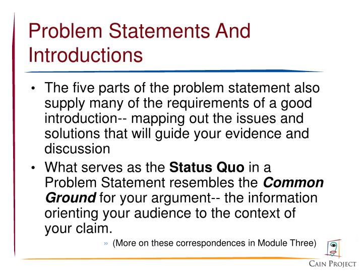 Problem Statements And Introductions
