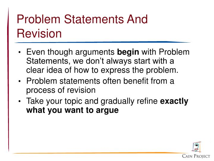 Problem Statements And Revision