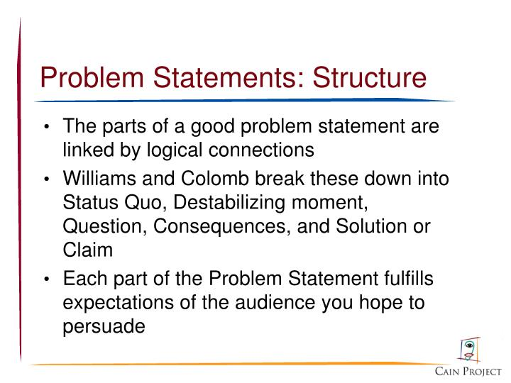 Problem Statements: Structure