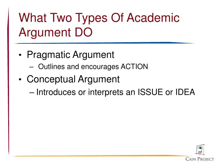 What Two Types Of Academic Argument DO