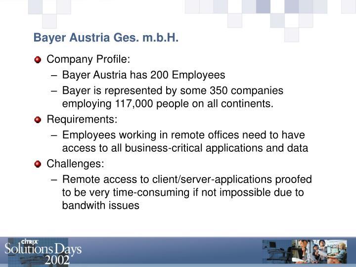 Bayer Austria Ges. m.b.H.